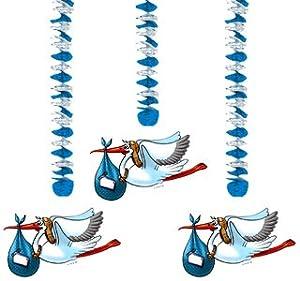 Folat 3stk. Colgante Guirnalda Baby Azul Nacimiento