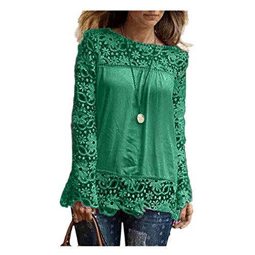 Zolimx donne autunno camicetta, donne camicetta lunga donna elegante sexy top off spalla pizzo blosue manica corta da donna t-shirt