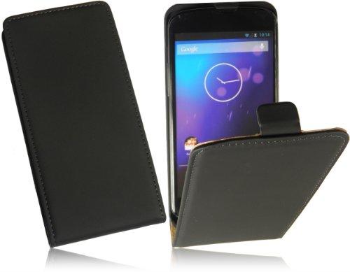 Premium Ultra Slim Handytasche für LG Google Nexus 5 Flip Case Schutzhülle mit intriegiertem Displayschutz Tasche Hülle Cover FlipStyle Klapptasche in Schwarz/Black