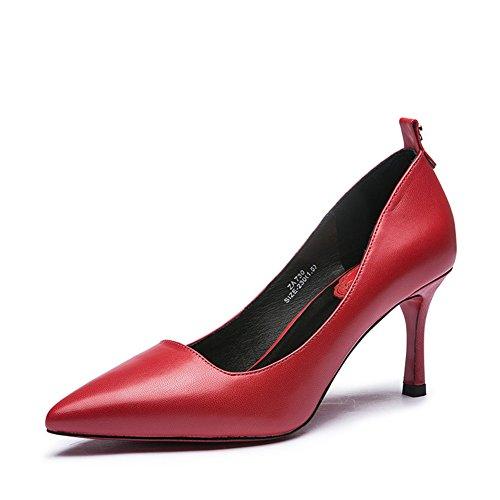 Lady tomber chaussures de mode arc métal léger/Chaussures à talon haut talon en cuir B