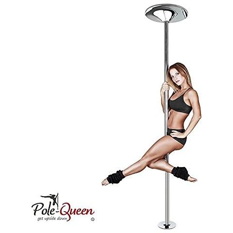 Pole Dance Stange ORIGINAL POLE-QUEEN© Tanzstange Poledance Stange für zu Hause - TOP-QUALITÄT - ZUFRIEDENHEITSGARANTIE - Spinning & Statik Funktion - ohne Bohren - HOCHWERTIG verchromt