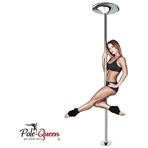 Pole Dance Stange ORIGINAL POLE-QUEEN Tanzstange Poledance Stange für zu Hause - TOP-QUALITÄT - ZUFRIEDENHEITSGARANTIE - Spinning & Statik Funktion - ohne Bohren - HOCHWERTIG verchromt