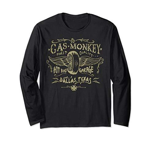 Gas Monkey Garage Winged Tire Pastel Sketch Langarmshirt -