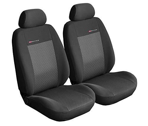 Coprisediliauto universale anteriori copri-sedile con airbag sistema elegance p3 - nero e grigio
