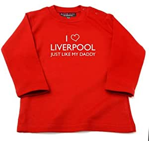 Liverpool Baby Clothes - I Love Liverpool Just Like My Daddy Baby / Kids T-shirt (2-4 Years)