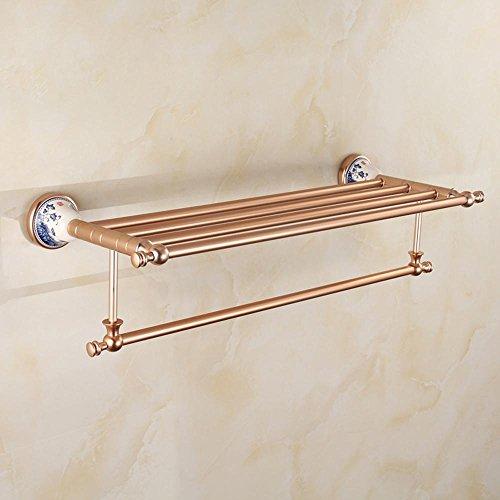 SSBY Alluminio oro rosa spazio, porta asciugamani in ceramica, porcellana blu e bianca di lusso (Nel Corso Di Ceramica)