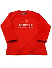 Liverpool Baby Clothes - I Love Liverpool Just Like My Daddy Baby / Kids T-shirt