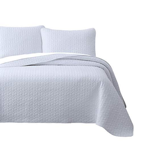 Cozy Beddings Vega Quilt Sets, Cal-King, White