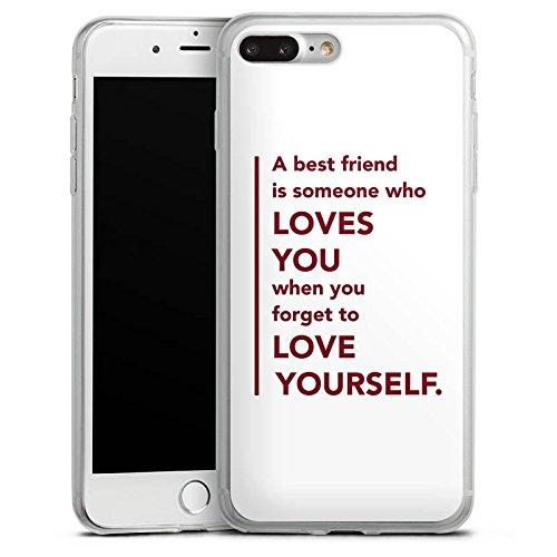 Apple iPhone X Slim Case Silikon Hülle Schutzhülle Bester Freund Freund Freundschaft Silikon Slim Case transparent