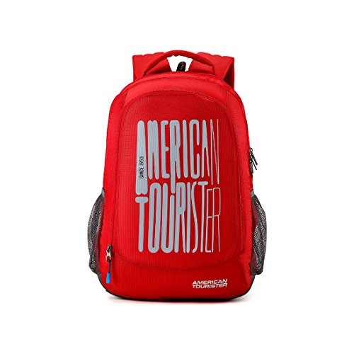 American Tourister 32 Ltrs Red Casual Backpack (AMT Fizz SCH Bag 03 – RED)