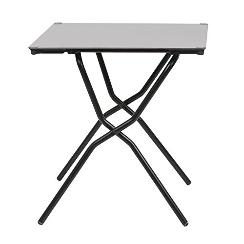Lafuma, Tavolino pieghevole quadrato, 64 x 68 cm, Struttura in Acciaio ALE, Stone, Anytime, LFM2590_7237