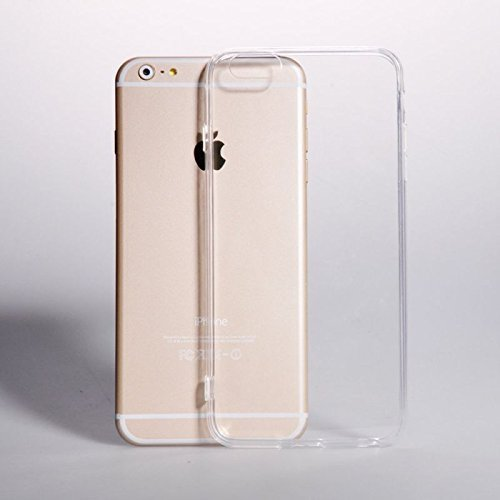PA DESIGNS Clear Transparent Flexible Totu Soft TPU Slim Back Case Cover For Apple iPhone 6 PLUS  available at amazon for Rs.179