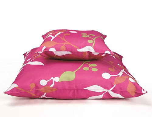 Outdoor Kissen Toffee pink mit Blumen Zierkissen Dekokissen 47cm x 47xcm