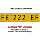 TopQuality Targa Ripetitrice in Alluminio per rimorchi, carrelli appendici con Lettere e Numeri con Caratteri Omologati…