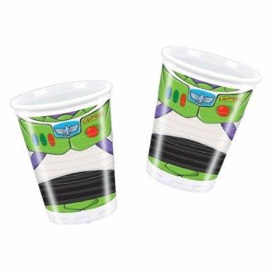 Generique - 8 gobelets plastique Toy Story Star Power