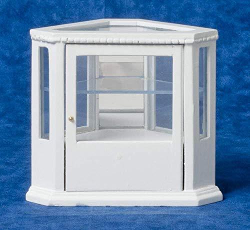 Town Square Miniatures - Puppenhaus Miniatur Möbel Weißes Holz Ecken Display Schrank 5445 -