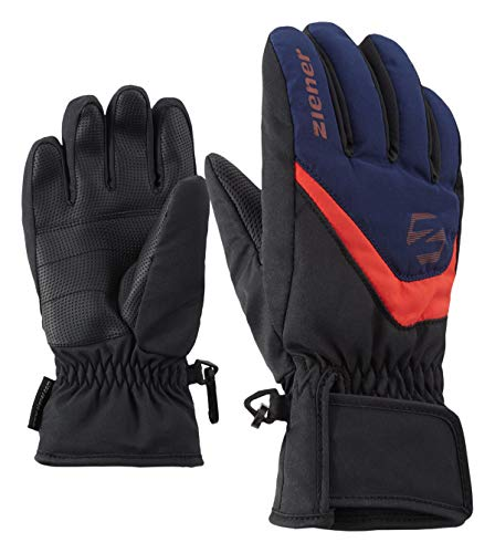 39e278775e8fad Ziener Kinder LORIK Glove junior Ski-Handschuhe, Black.Estate Blue, 4