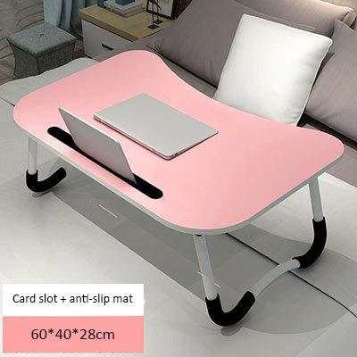 xinrongqu Verstellbarer Notebook-Tischständer mit Steckplatz für Kartensteckplätze. Tragbarer Klapptisch pink 60 * 40 * 28 -