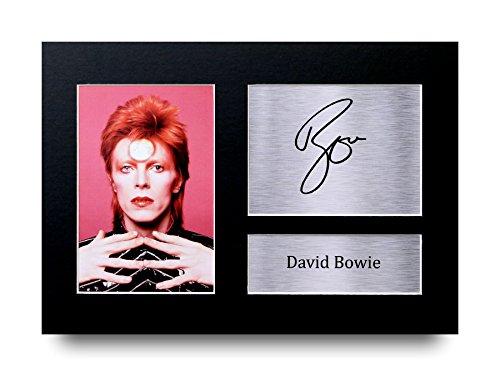 David Bowie Los Regalos Firmaron A4 la Dedicatoria Impresa Ziggy Stardust Glam Rock Música La Foto de Impresión Imagina la Demostración