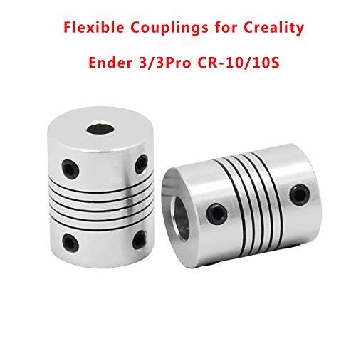 HICTOP flessibile raccordi 5 mm a 8 mm Nema 17 shaft accoppiatore per  stampante 3D RepRap Prusa i3 2PCS
