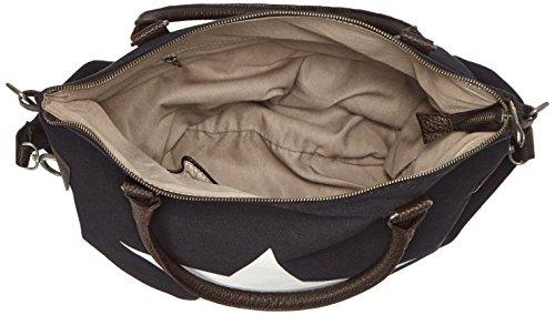 Bags4Less - F3151, Borsa a tracolla Donna Schwarz (Schwarz+weiss)
