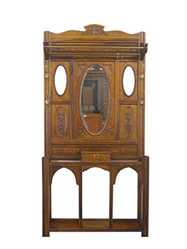 Garderobe Wandgarderobe Flurgarderobe Antik um 1920 aus Eiche B: 102 cm (9132)