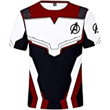 The Avengers 4 Quantum battle suit T-shirt 3D printing pattern Sweat-absorbent and quick-drying men's Top XXL
