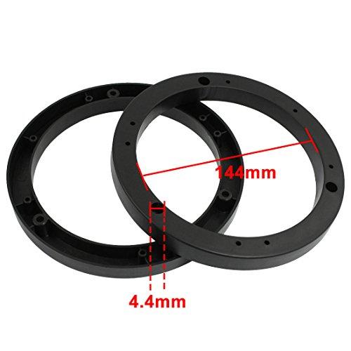sourcingmap® 2 Stücke Kunststoff Auto Audio Lautsprecher Spacer Adapter Halter 6″ - 2