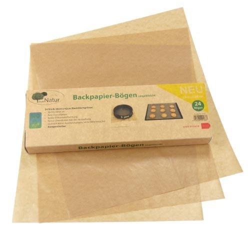 Backpapier silikonfrei Zuschnitte gefaltet 38X42cm, ungebleicht und chemiefrei, 100% recyclebar