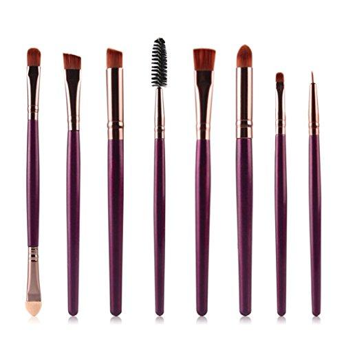 Clode® 8pcs Brosse cosmétiques Maquillage Brush Pinceau fard à paupières violet