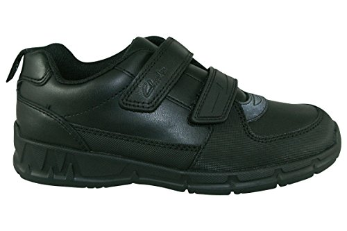 Clarks Maris Fire Inf Boy's School Shoes 11 F Black Leather