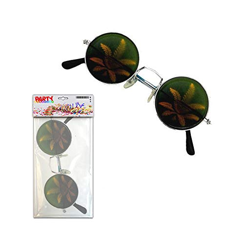 PARTY DISCOUNT ® Brille Cannabis Holographie (Jamaika Kinder Kostüm)