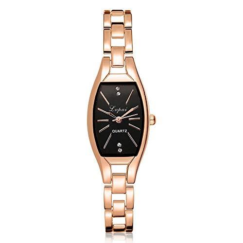 Suitray Damen Uhren,Luxus Mädchen Armbanduhr Analoge Quarzuhr Beiläufig Uhr Geschenk,Quadratische Zifferblattgehäuse Edalstahlband Uhren