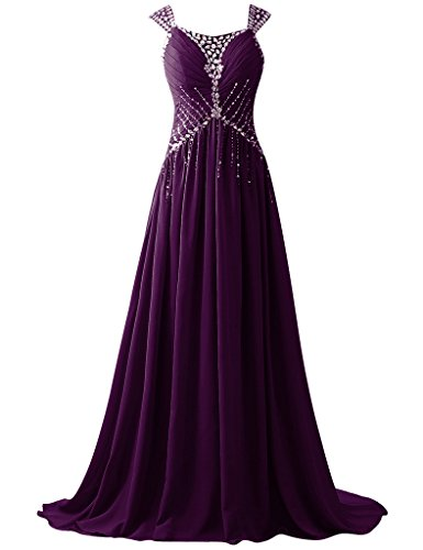 HUINI Damen Kleid Grape