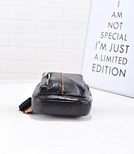eecb88c21df91 Neue koreanische Mode Herren Brust Tasche outdoorReisen einzigen Diagonalen  kleine Umhngetasche Black