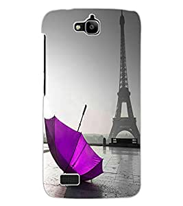ColourCraft Amazing Tower Design Back Case Cover for HUAWEI HONOR HOLLY