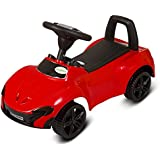 GoodLuck Baybee - Toddlers Ride On Push Car With Music Toy Children Rider & Small Toy Infant Baby Toys | No Battery | Twist, Turn, Wiggle for endless fun Sports car | Kids Suitable For Boys & Girls (1-2 years)(Red)