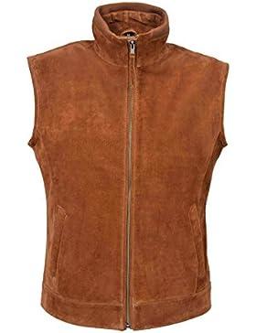 1290 W/C Nuevos Hombres Broncearse Suede Chaqueta de chaleco sin mangas Classic Cuero genuino real del oeste