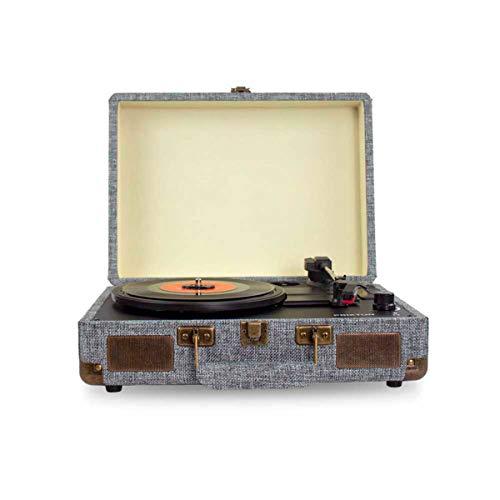 Oferta de PRIXTON VC400 - Tocadiscos de Vinilo Vintage, Reproductor de Vinilo y Reproductor de Musica Mediante Bluetooth y USB, 2 Altavoces Incorporados, Diseño de Maleta, Color Gris
