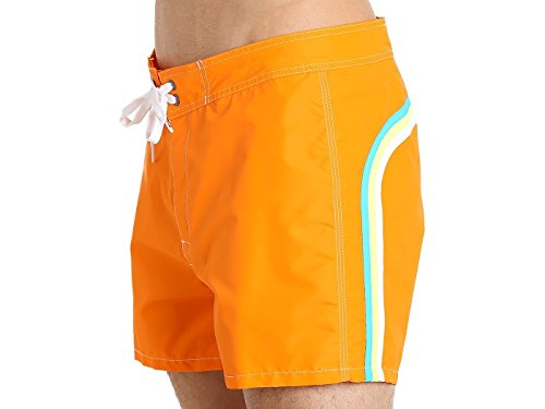 SUNDEK Herren Shorts Low Rise, Mehrfarbig Orange