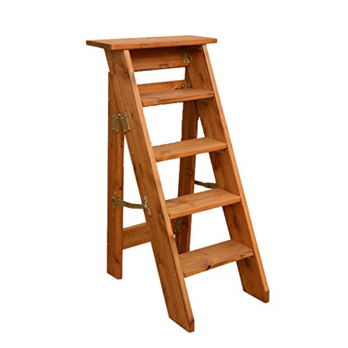 C-J-Xin Escalera de madera, escalera de un solo lado para el hogar, escalera de dormitorio de la cocina Soporte de flor Estantería de libros Escalera plegable Escalera de casa (color : B)