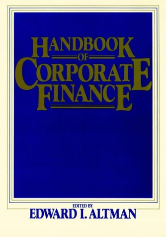 Handbook of Corporate Finance (Wiley Professional Banking and Finance Series)