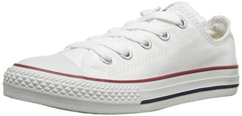 Converse Chuck Taylor All Star Core Ox, Baskets mode mixte enfant - Blanc (Blanc Optical) - 23 EU (7 UK)