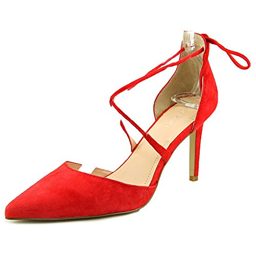 Tahari Blair Femmes Daim Talons Poppy Red