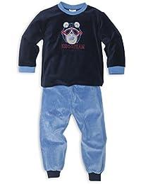 Nicki Schlafanzug mit Bündchen an Arm- und Beinabschluss für Jungen - Moonline