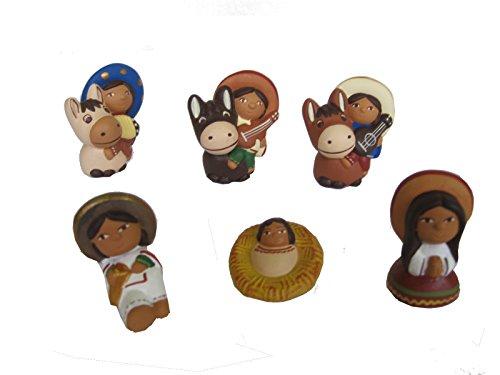 Discount ethnique – Crèche terre cuite mexicain Set H.6 cm.