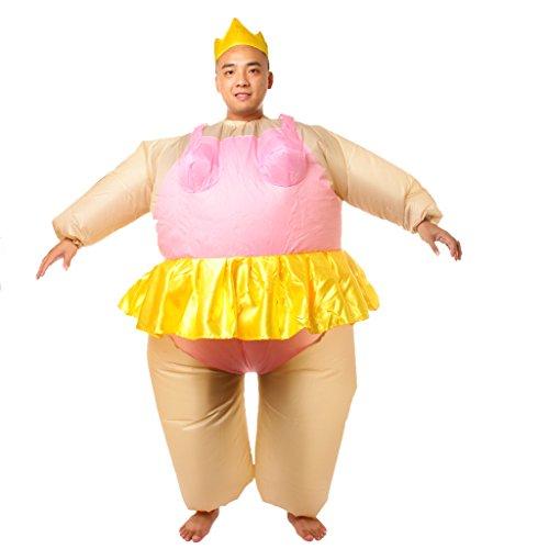 Aufblasbare Ballerina Kostüm Fett Anzug Polterabend (Fett Outfits)