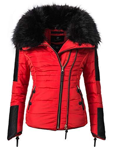 Navahoo Damen Jacke Winterjacke Steppjacke Yuki2 Red Gr. S -