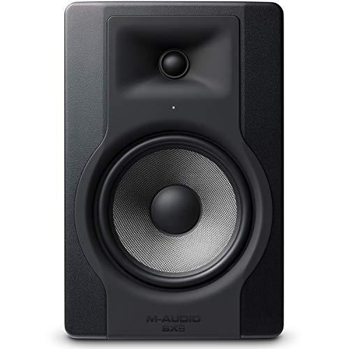 M-Audio BX8 D3 - Professionelle 2 Wege Aktiv Studiomonitor Lautsprecher für Musikproduktion und Mixing mit eingebauter Acoustic Space Control, 1 Stück