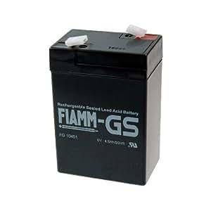 FIAMM FG10451 lead acid batterie 6V 4,5 Ah Faston 4,8 batterie AGM au plomb / gel scellé batterie acide / plomb technologie non-tissé